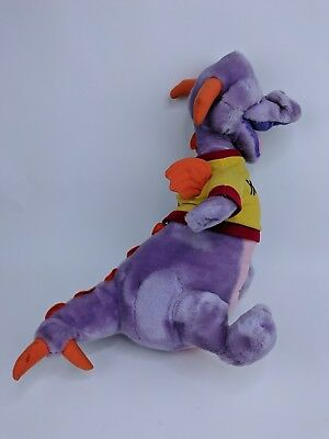 "Figment Plush 17"" Purple Dragon Walt Disney Productions Disneyland Epcot"