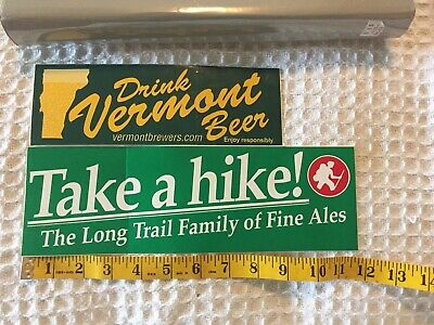 LONG TRAIL BREWING CO TAKE A HIKE Sticker 3.5in Brewery LONGTRAIL si