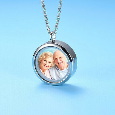 Glass Cremation Ashes / Flowers / Picture Urn Pendant Necklace Keepsake Memorial