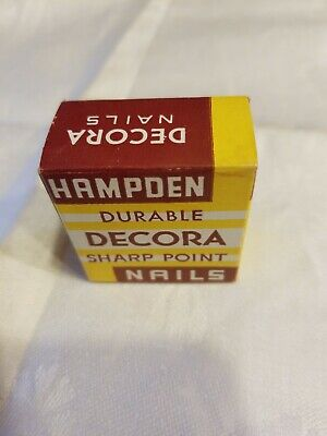 Vintage Hampden Decora Sharp  Point Nails MIP # R148J ANTIQUE COLOR
