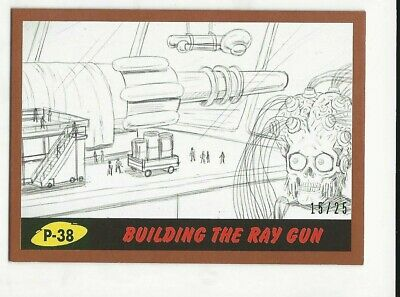 MARS ATTACKS REVENGE Bronze Parallel Pencil Building The Ray Gun P-38 #15/25