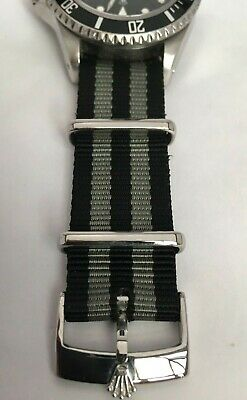 For Rolex 20Mm Nato Phoenix Watch Strap Bond Military Strap With Ss Rolex Buckle