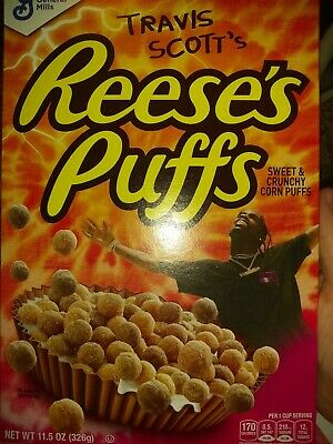 Travis Scott  Reeses Puffs Cereal 100% New  Cactus Jack Limited SOLD OUT