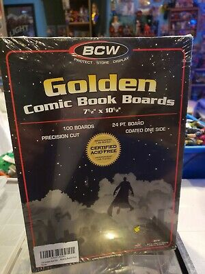 100 BCW GOLDEN AGE SIZE COMIC BOOK BACKING BOARDS Storage White Backer Acid Free