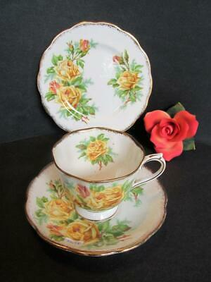Royal Albert Tea Rose English Bone China Trio Teacup - Saucer - Plate Kt5698