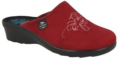 Fly Flot L7Q23 Wd Bordo Ciabatte Donna Made In Italy Anatomica Antiscivolo Antis