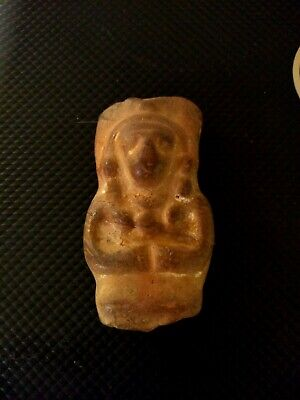Ancient Antique Inuit Egyptian Native Carved Stone Fetish Effigy