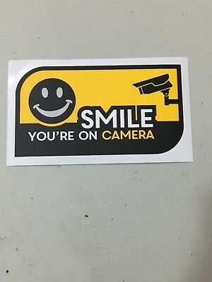 Decal Sticker Vinyl Security Camera Smile Youre On Camera
