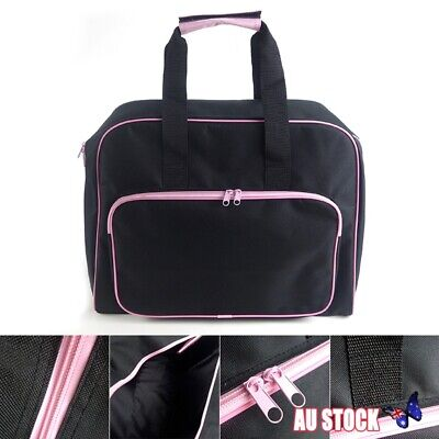 Black Padded Sewing Machine Bag / Carry Case with Pocket Craft Storage AU