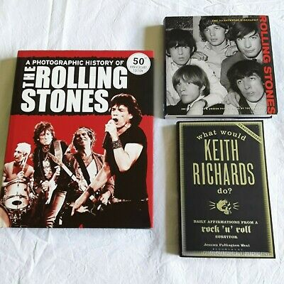 3 THE ROLLING STONES MUSIC BOOKS Mick Jagger