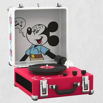 Hallmark 2019 Disney Mickey Mouse Record Player Musical Ornament