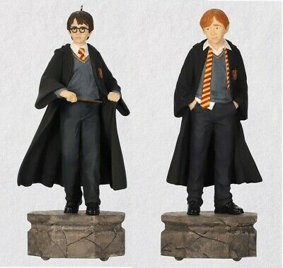 Hallmark 2019 Harry Potter Collection HARRY POTTER & RON WEASLEY Ornament Set