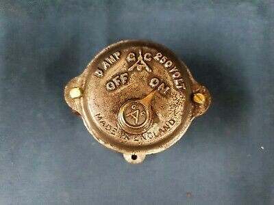 Vintage, industrial, cast iron and brass factory GAC switch