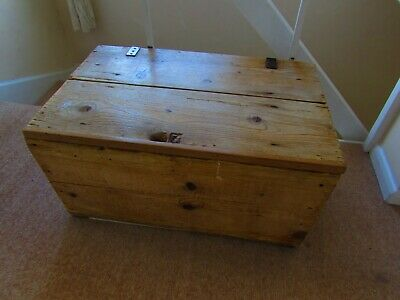 old pine blanket box some stains in and out