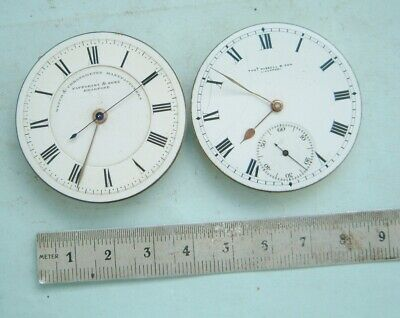 watchmaker 2 off Pocket watch 1 thos Russell  & chronograph sweep seconds parts