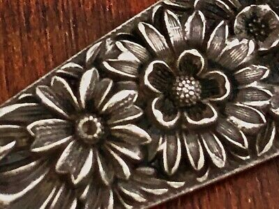 - S. Kirk & Son Solid Sterling Silver Letter Opener: Repousse 1846, No Monogram