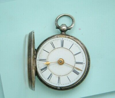 watchmaker sterling silver Pocket watch spare parts sold as not working nice