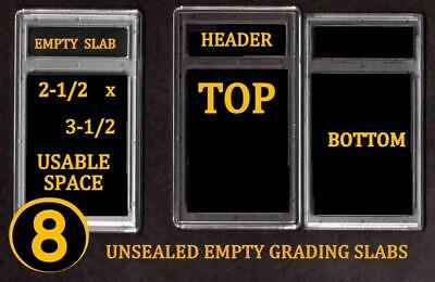 8 EMPTY PROFESSIONAL Unsealed Graded Card Slabs HOLDER for GRADING NEW