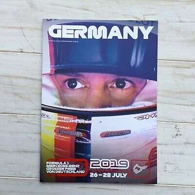2019 F1 Formula One German Germany Official Programme Hockenheim Grand Prix