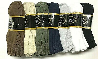 3 /6 /12 / Pair Non-Binding Top DIABETIC Colors Ankle Sock Size10-13 & 9-11 USA