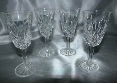 """WATERFORD CRYSTAL Lismore 5"""" Stemmed SHERRY CORDIAL GLASSES 4 Pc Set"""