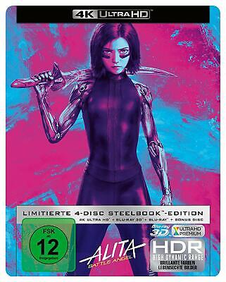 Alita: Battle Angel collector's Edition Steelbook 4K, 3D 2D, bonus (4 disc)