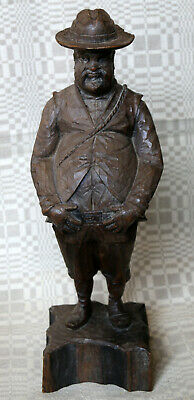 Hand Carved Solid Wood Sancho Panza Statue Figurine Carving Made in Spain