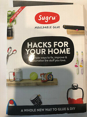 Sugru Mouldable Glue - Family-Safe Skin Friendly Formula Red,Black,White & Grey