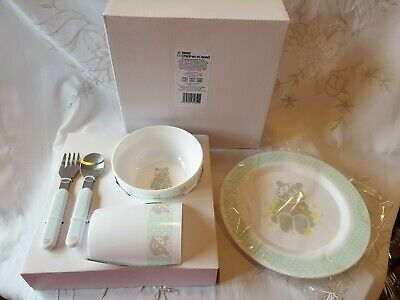 BBC Children In Need Pudsey Bear Toddler Dinner Set Plate Bowl Cup Cutlery New