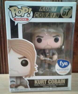 Nirvana ~ Kurt Cobain ~ Funko Pop! Rocks ~ New 2017 Fye Excl ~ Mtv Unplugged