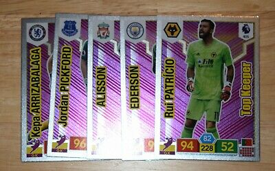 Panini Adrenalyn Xl Premier League 2019/20 Top Keeper Sub-Set All Five Cards
