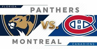Canadiens vs Florida Panthers tickets (2), September 19, 2019 HABS. 09/19
