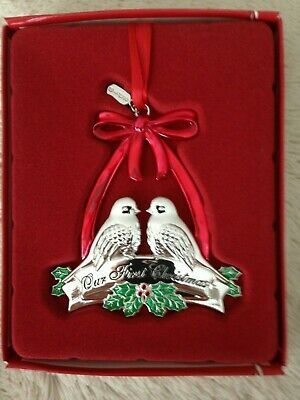 Lenox 2019 Our First Christmas Together ~Doves~ Ornament-NIB