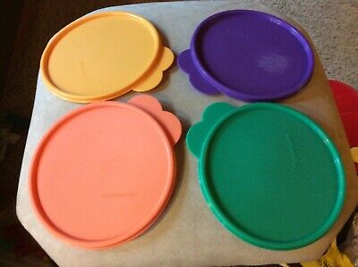 Tupperware Butterfly Tab 2541 Replacement Lid Seal Set Of 4 purple