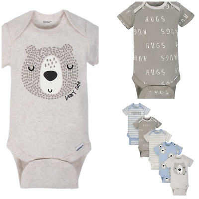 New Gerber 5-pk One-piece Bodysuit Set