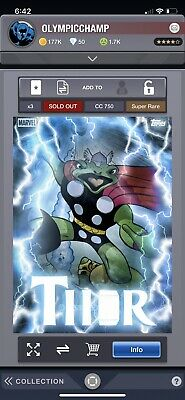 Topps Marvel Collect Card Trader Thorsday MOTION - Frog Thor Throg