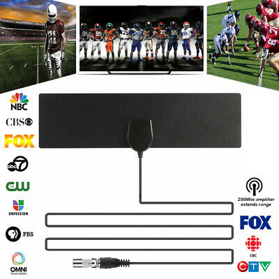 1/2X Indoor Digital TV Antenna 960 Miles Range HD 1080P Signal Booster Amplifier