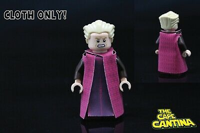 LEGO Star Wars Custom Cloth Cape Minifigure Chancellor Palpatine Royal Red Robe