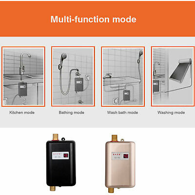 Mini Instant Electric Tankless Hot Water Heater Kitchen Bathroom Sink Tap Pro AU