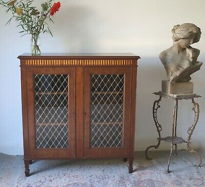 Antique Mahogany Cupboard Cabinet Bookcase Vintage  - Delivery Available