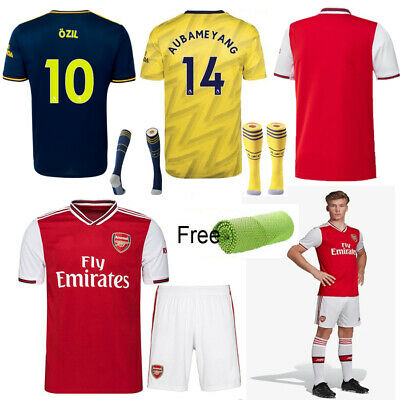 19/20 Football Full Kit Soccer Home Away Jersey Strip Suit Kid Boy Sports Outfit