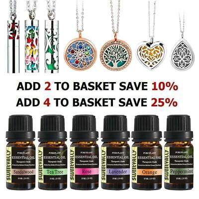 Essential Oils Fragrance Diffuser Candle Pendant Necklace Christmas Gift 10ml