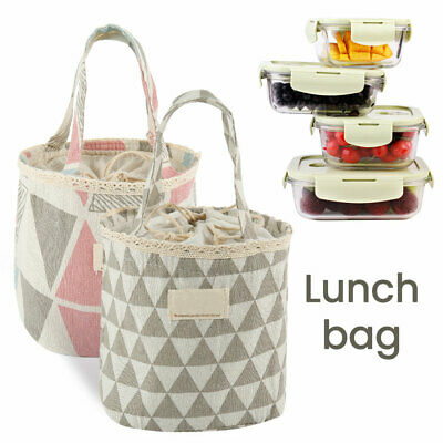 Childrens Adult Kids Insulated Lunch Bag Cool bags School Picnic Gift Lunchbox