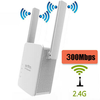 300mbps Wifi Extender Repeater Wireless Router Range Network Signal Booster UK