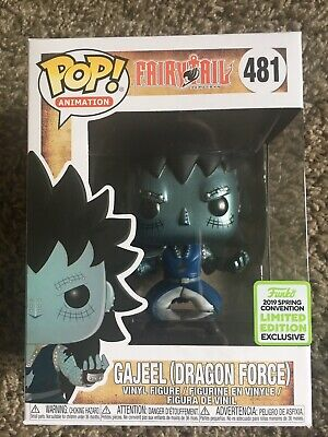 Funko Pop! Animation Fairytail Gajeel Dragon Force ECCC With Pop Protector