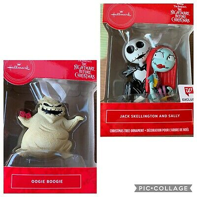 Nightmare Before Christmas Hallmark 2019 Ornament Jack & Sally and Oogie Boogie