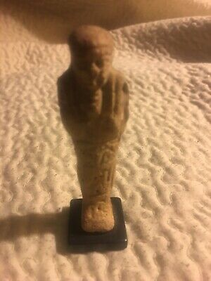 "Egyptian Antique Ushabti Ancient Shabtai faience Statue 2.5"" , Provenance Ex Dr."