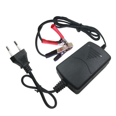 12V 1A Universal Portable Car Truck Motorcycle Alligator Clip Battery Charger WA
