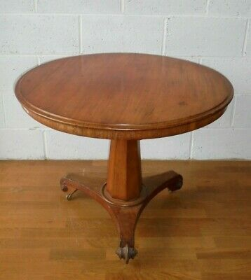 Antique Early Victorian Walnut Tilt Top Breakfast Table For Dinning Or Kitchen