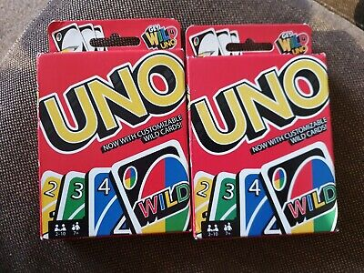 2 sets UNO ORIGINAL CARD GAME WITH WILD CARD  - Kids Toy Game